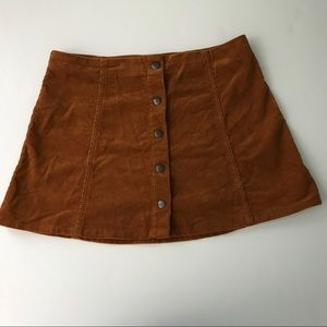 TOPSHOP 70's Inspired Corduroy Skirt Size 10